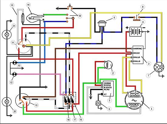 Schema Elettrico Yaris 2003 : Schema impianto elettrico ducati scrambler cc e