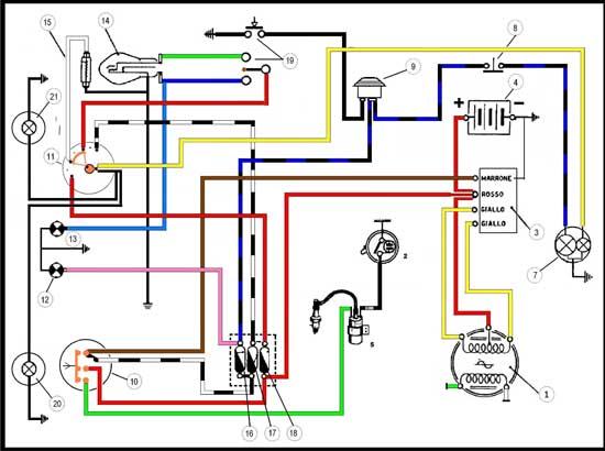 Schema Elettrico Bici Pedalata Assistita : Schema impianto elettrico ducati scrambler cc e
